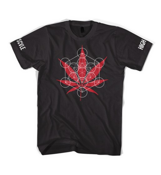 BS X HIGH TIMES - METATRON T-SHIRT BLACK (FRONT)