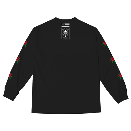 BS X HIGH TIMES - FLOWER LONG SLEEVE BLACK (BACK)