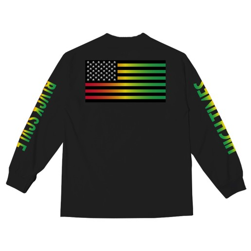 BS X HIGH TIMES - BALANCE LONG SLEEVE BLACK (BACK)