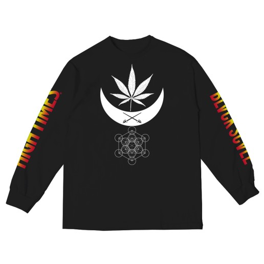BS X HIGH TIMES - BALANCE LONG SLEEVE BLACK (FRONT)